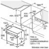 Bosch SÜTŐ BEÉPÍTHETŐ ELEKTROMOS HBA5785S6