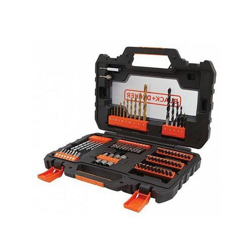 Black and Decker 76 db-os fúrószár és csavarozófej készlet + Easy Grip tokA7231-XJ
